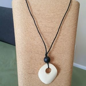 Wooden Corded Necklace